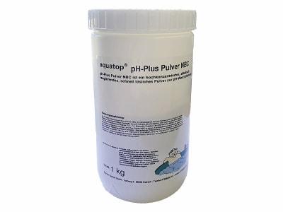 aquatop® pH-Plus Pulver NBC zur Senkung des pH-Werts von Schwimmbadwasser 1 kg Dose