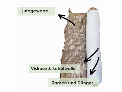 wollrasen® greentex® easygreen® 24 m2 (1,2 m x 20 m) 1 St. Vlies