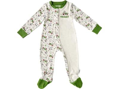 Fendt Schlafanzug für Babys weiß; grün, mit Tier- und Traktorenaufdruck