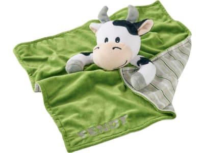 Fendt Schmusetuch für Babys, mit Kuh, grün, X991020096000