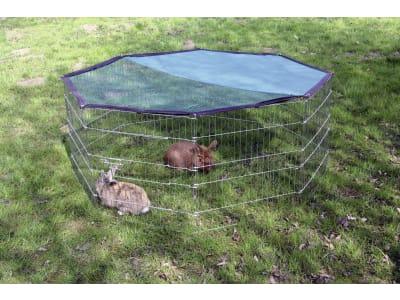 Kerbl Freilaufgehege Ø 143 cm 8-eckig, für Kaninchen und Meerschweinchen, 82708
