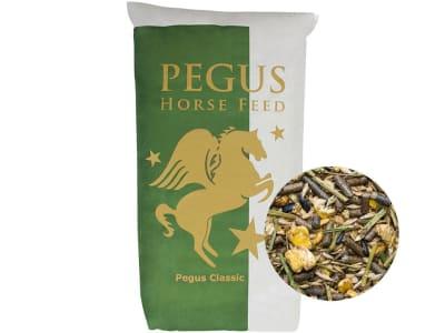 Pegus Classic Kräutermüsli haferfreies und staubfreies, voll mineralisiertes Pferdefutter mit Kräutermischung 20 kg Sack