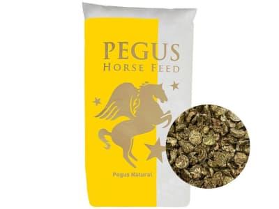 Pegus Natural Wiesenflakes naturbelassene, schnell auflösende Wiesenflakes, auch zum trocken Füttern geeignet 15 kg Sack