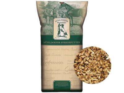 Mühldorfer Bio-Vollkorn haferfrei haferfreies, pelletfreies  Bio-Allround Pferdefutter 20 kg Sack