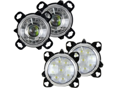 LED-Hauptscheinwerferset links/rechts 10 – 30 V 460 lm; 190 lm, Abblendlicht; Fernlicht, für Frontgrill Traktor Massey Ferguson MF 5000, 6000, 7000, 8000