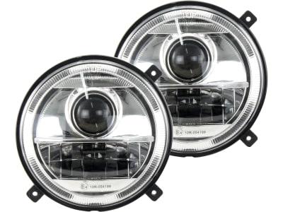 LED-Hauptscheinwerferset links/rechts 10 – 30 V 1.560 lm; 2.760 lm, Abblendlicht; Fernlicht, für Frontgrill Traktor Massey Ferguson MF 5000, 6000, 7000, 8000