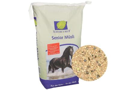 NATURE´S BEST Senior Müsli hochverdauliches Futter für ältere Pferde und bei Zahnproblemen, kann eingeweicht gefüttert werden 20 kg Sack