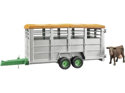 """Bruder® Modell """"Viehtransportanhänger"""" mit einer Kuh 1:16, 02227"""