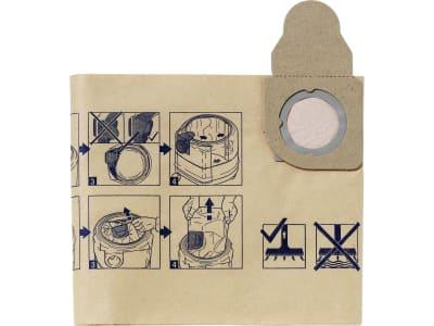 Nilfisk Filtersack Papier 5 St., für Nass- und Trockensauger Aero 600 – 840, 60910