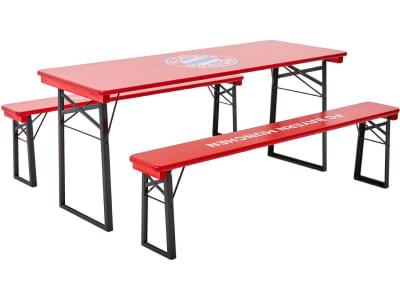RUKU Bierzeltgarnitur 3-tlg., 180 cm, mit 67 cm breitem Tisch, FC Bayern München Edition