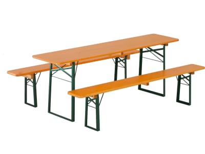 RUKU Bierzeltgarnitur 3-tlg., 220 cm, 50 cm breiter Tisch