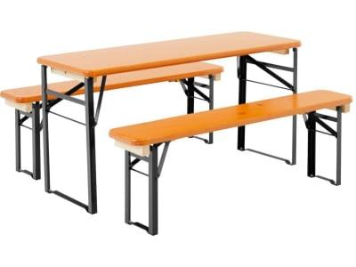 RUKU kleine Bierzeltgarnitur BAMBINI 3-tlg., 110 cm, mit 40 cm breitem Tisch