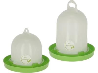 Stükerjürgen Geflügeltränke Bio-Kunststoff weiß; grün