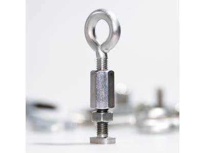KGT Ring-Haken-Kombination mit Langmutter edelstahl