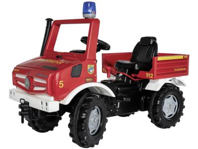 """Rolly Toys® Trettraktor """"Unimog Fire"""", mit Schaltung, Bremse und Blaulicht, 03 822 0"""