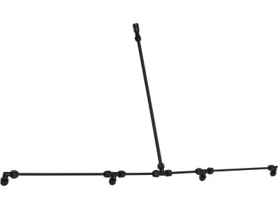 Birchmeier® Spritzbalken 100 cm Kunststoff, 4 x Flachstrahldüse 80° für Handspritzen, Akku-/Motor-Rückenspritzen, Rückenspritzen, Trolley-Spritzen, 11659801-SB