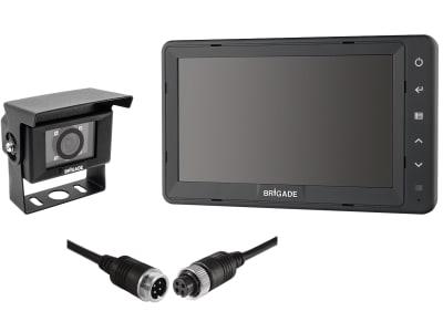 """Brigade® Rückfahrsystem mit Kamera VBV-7000C, 7""""-Monitor VBV-770HM, 20 m Kabel, 6111"""