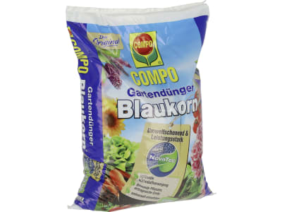 COMPO Gartendünger Blaukorn® NovaTec®, NPK 14+7+17(+2) NPK 14+7+17 chloridarmer Universaldünger für Gartenpflanzen