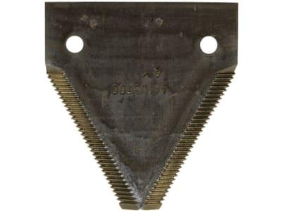 Fendt Messerklinge gezahnt, 82 x 76 x 3 mm für Mähmesser Mähdrescher Fendt, Massey Ferguson, D44103700
