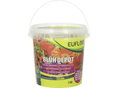 EUFLOR® BlühDepot umhüllter NPK 18+6+12 Dünger mit Magnesium und Spurennährstoffen zur saisonalen Düngung 1 kg Eimer