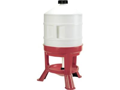 Kerbl Geflügeltränke 30 l mit Standfüßen und Tragegriff, Kunststoff rot; weiß, 70233