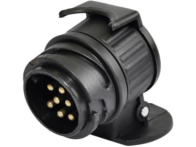 Anhänger-Adapter 12 V Stecker 13-polig; Steckdose 7-polig, Länge 50 mm, 014 000 206