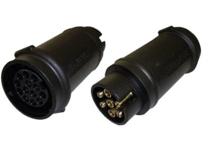Anhänger-Adapter 12 V Stecker 7-polig; Steckdose 13-polig, Länge 110 mm, 014 000 211