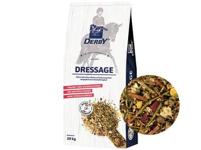 DERBY® Dressage haferfreies Pferdefutter zur Unterstützung von Muskelaufbau und Nervenstärke 20 kg Sack