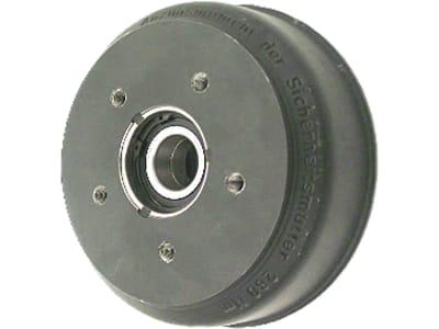 Bremstrommel 200 x 50 mm, Anschluss 4 x 100, mit Schrägkugellager, für Radbremse Knott 20-2425/1