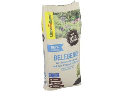 Floragard® Bio-Erde Belebend zur Bodenverbesserung und zum Pflanzen im Garten 60 l Sack