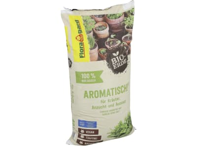 Floragard® Bio-Erde Aromatisch für Kräuter, Anzucht und Aussaat 40 l Sack