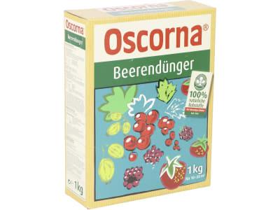 Oscorna® Beerendünger organischer NPK 6+6+0.5 Naturdünger für schmackhafte Beeren aus dem eigenen Garten 1 kg Karton