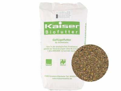 Kaiser Bio-J Junghennenalleinfutter Hühnerfutter Mehl 25 kg Sack