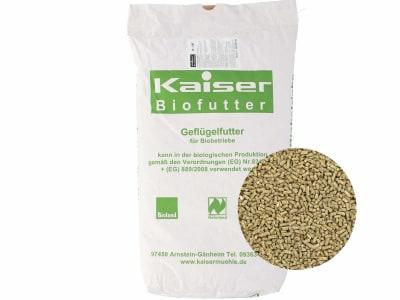 Kaiser Bio-GMK Geflügelmastkorn Hühnerfutter Granulat 25 kg Sack