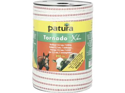 "Patura Breitband ""Tornado XL"" weiß; rot 12,5 mm"