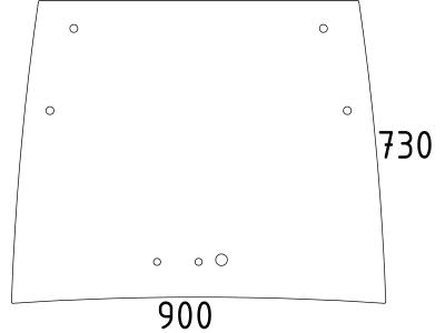 Frontscheibe, klar, neue Ausführung, für 203 – 209 P; 208 – 209 P NA; 207 – 209 S; 206 –209 V NA, 206 – 211 V+F