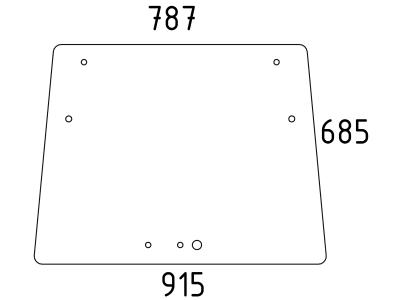 Frontscheibe, klar, neue Ausführung, für Fendt Farmer 250 V, 260 V, 270 V, 275 V, 280 V