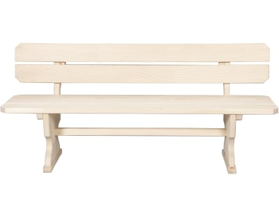 Braun Sitzbank mit Rückenlehne, Fichte; Tanne