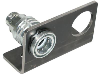 Halteblech zweifach für Hydraulikkupplungen Baugröße 03 (38,3 mm)