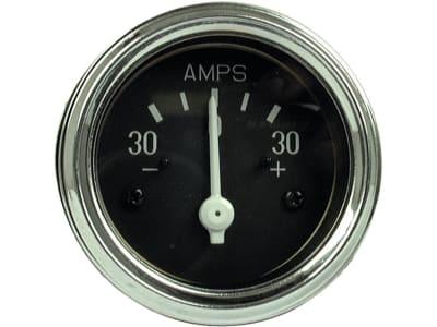 Amperemeter beleuchtet, 0 bis 30 A, mit Chromring, für Ford New Holland
