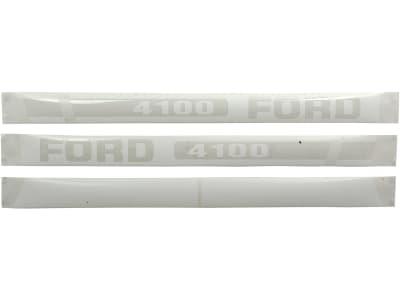 """Aufklebersatz """"Ford 4100"""" für Ford New Holland, Vergl. Nr. Ford New Holland: EBPN16605C"""