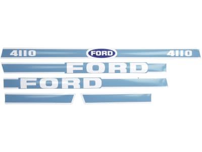 "Aufklebersatz ""Ford 4110"" für Ford New Holland, Vergl. Nr. Ford New Holland: 83928790"