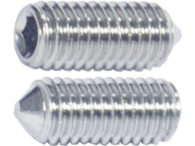 Madenschraube M 5 x 12 mm, Edelstahl A2, Innensechskant, abgeflachte Spitze 90°, 0262512