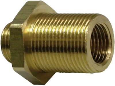 Schottverschraubung mit Einschraub- und Innengewinde, Druckluft, metrisch