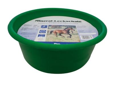 DERBY® Mineral-Leckschale für Pferde ideal für Weide und Laufstall 10 kg Schale