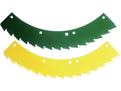 MWS Sägemessersatz rechts, gelb; grün, 78.230, 30-0540-74-01-2 für Kemper 330, 345, 360, M 6008, 375