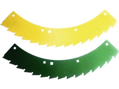 MWS Sägemessersatz links, gelb; grün, 78.231, 30-0540-73-01-2 für Kemper 330, 345, 360, M 6008, 375