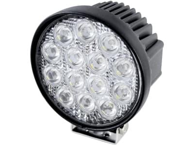 LED-Arbeitsscheinwerfer rund 2.500 lm, 10 – 30 V, 14 LEDs, Funkentstörung Klasse 3