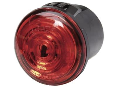Hella® LED-Positionsleuchte rund, hinten, rot, Ø 30 mm, 9 – 33 V DC, E4 8639, 2TM 357 011-011