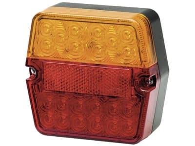 Hella® LED-Schlussleuchte eckig, Schluss-, Brems- und Blinklicht mit Rückstrahler, 9 – 36 V DC, 2VA 357 023-021
